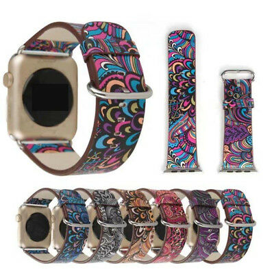 38/42mm For Apple Watch iWatch Band PU Leather watchband Strap Chinese style LN
