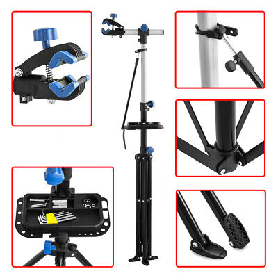 Bike Repair Work Stand With Bonus Tool Tray For Home Bicycle Mechanic UK