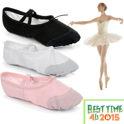 Ballet Canvas Dance Yoga Gymnastic Shoes Split Sole Adult's & Children's Sizes