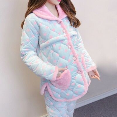 Newly Maternity Pajama Set Women Coldproof Breastfeeding Home Clothes For Winter