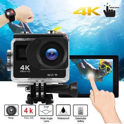Christmas Gift Sports Action Camera Camcorder 4K Dual Touch Screen + Controller