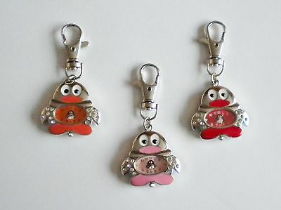 New Ladies/girl's/nurses Xmas Penguin Keyring/key Chain Pendant Pocket Fob Watch