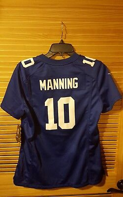 low priced e0cc5 de2dd NWT $95 🏈 NIKE NFL 🏈 #10 Eli Manning 🏈New York Giants 🏈 Game Jersey  🏈Wmns L