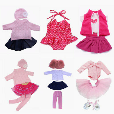 For 18inch American Girl Our Generation Doll Outfit 4pcs Ballet Dance Clothes UK