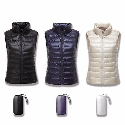 Ultra Light Packable Women's UNIQLO'S STYLE ! 90% White Duck Down Puffer Vest