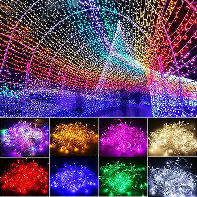10M 20M 50M100M Christmas Lights Xmas Tree Fairy String Lamp Garden Party Decor