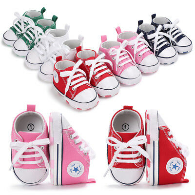 Newborn to 18M Baby Boy Girl Pram Shoes Infant Sneakers Toddler Pre Walker Shoes