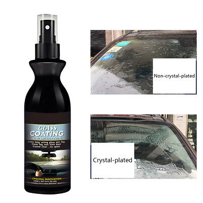 Rain & Water Repellent Nano Hydrophobic Window Protectant Crystal Glass Coating