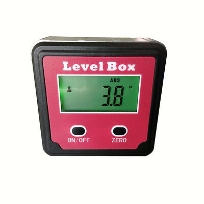 Mini Digital Angle Gauge Protractor ±180°(0-360°)Bevel Box Inclinometer STDJ125