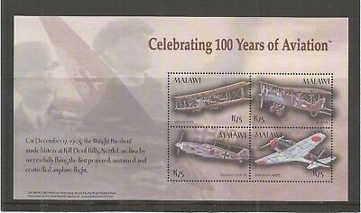 Malawi 2004 Centenary Of Powered Flight Minisheet Sg,ms1023 U/mm Nh Lot 5708A