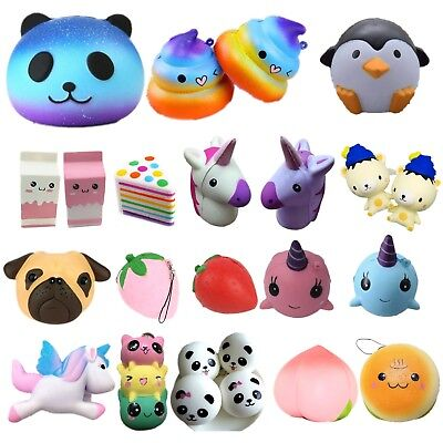 Jumbo Slow Rising Toy Squishies Scented Charms Kawaii Squishy Squeeze Xmas Gifts
