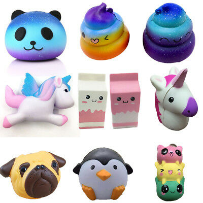 Jumbo Slow Rising Squishies Scented Cute Squishy Squeeze Charm Toy Collection