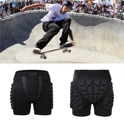 1pcs Black Ski Hip Pad Pants Hockey Pants In-line Skates Hip Pad Protector t_y