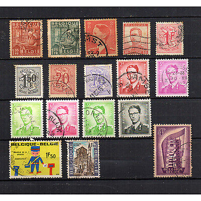 BELGIUM old vintage stamps collection bulk lot Metiers D'Art King Leopold III