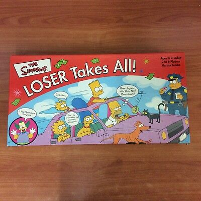 2001 Board Game - The Simpsons Loser Takes All! - 100% Complete