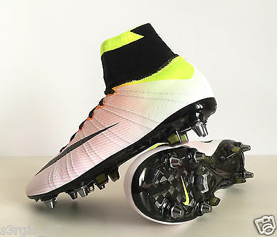 3fb8f8f250403 Nike Mercurial Superfly 4 SG-PRO 641860-107 White Soccer Cleats Radiant  Reveal