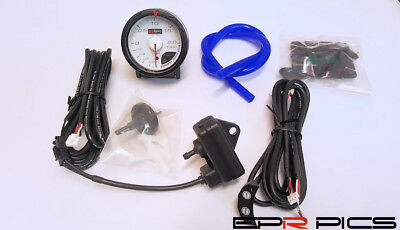 D1 Spec 52mm JDM Stepper Motored White Face 2 Bar Boost Gauge