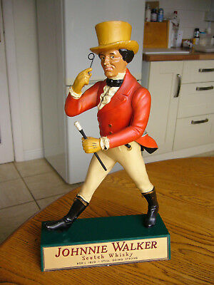JOHNNIE WALKER - SCOTCH WHISKY - ADVERTISING FIGURE - PLASTIC - Pre-owned.