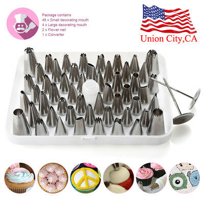 Kit Russian Tulip Flower Cake Icing Piping Nozzles Decorating Tips Baking Tools