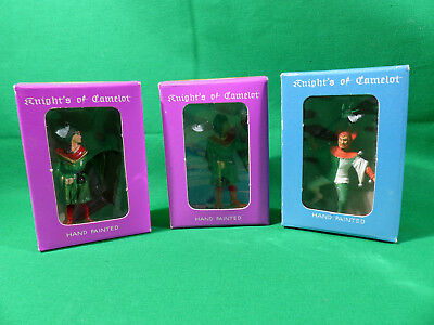 3x Starlux / Plasticum Ritter Figuren - Knight's of Camelot Set in Box