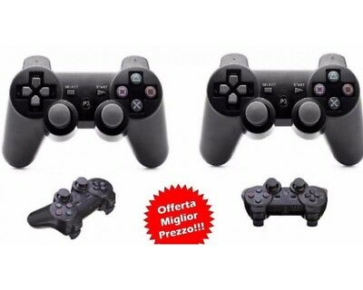 COPPIA 2 JOYSTICK WIRELESS COMPATIBILE PS3 SENZA FILI controller VIBRAZIONE