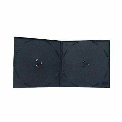 Mediaxpo Brand 200 SLIM Black Double VCD PP Poly Cases 5MM