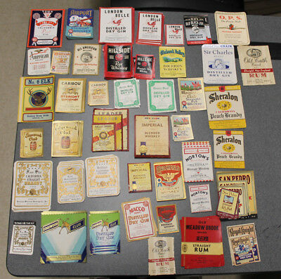 Lot of 434 Vintage Original Whiskey Gin Labels Advertising Distillery