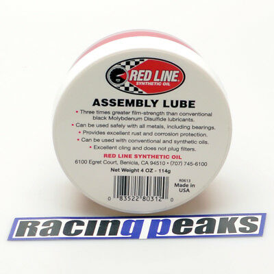 RED LINE Assembly Lube 80312 Ultra Slick Engine Rebuild Lube Oil Engine Bearings
