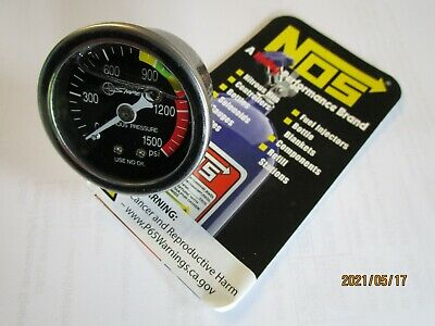 Dragrace Nitrous Express liquid filled nitrous pressure gauge. 1500psi. new.
