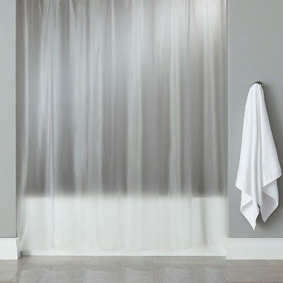 Croydex PVC Frosty Clear Bathroom Shower Bath Curtain Plastic Plain 180 x 180cm