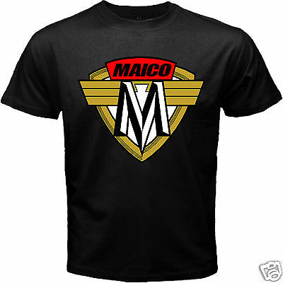 Rare Maico Vintage Classic Motocross German Motorcycle Logo Patch T-shirt S-5XL