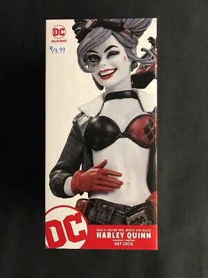 Harley Quinn Dc Bombshell Red White & Black Statue Figure By Ant Lucia New