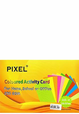 A4 White Card for Home, School, Office or Arts & Crafts (250GSM - 25 Sheets)