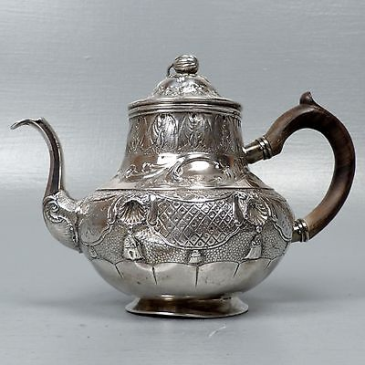 Early 18th Century Dutch Pear Form Silver Teapot by Jan Verdoes Haarlem 1735 SL