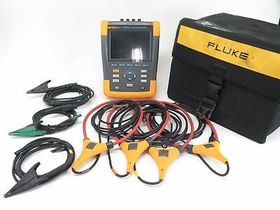 Fluke 435 Series II Power Quality and Energy Analyzer Three Phase w/ Clamps