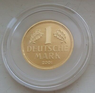 1 Deutsche Mark GOLD Mzz. A Goldmark Goldmünze Original