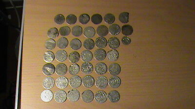 medieval hand hammerd silver coin lot 44 pcs  1550 to 1630