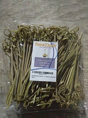 200 Bamboo Knot Skewers, 4 Inch. Twisted Ends Bamboo Skewers Cocktail Picks