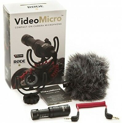 Shotgun On-Camera Microphone with Rycote Lyre Shock Mount - Rode VideoMicro