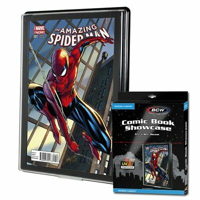 1 BCW UV Current/Modern Comic Book Showcases Wall Mountable Display Frame