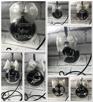 Nightmare Before Christmas Disney - Baubles Tree Decoration Gift Set Of 8