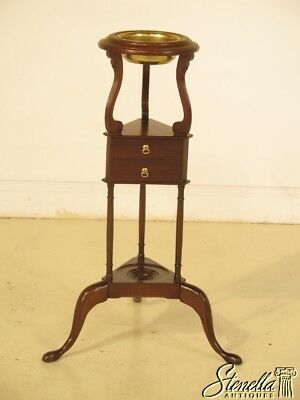 43127: MADISON SQUARE Queen Anne Mahogany Basin Or Plant Stand