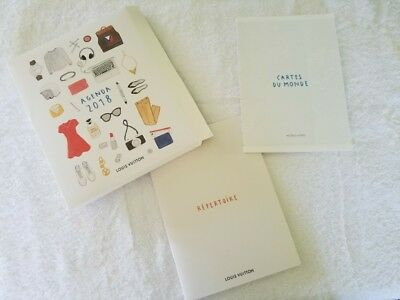 Louis Vuitton LV 2018 DESK AGENDA Contacts and World Map Refill