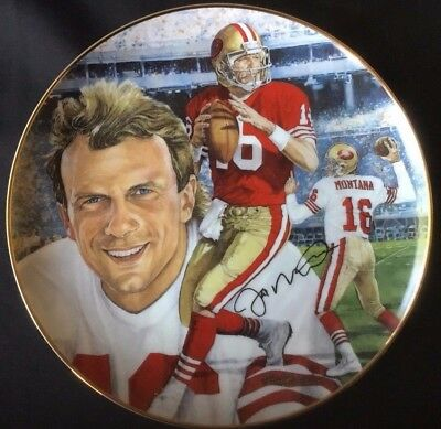 "PLATE (81/2"") 1991 Gartlan USA ""Comeback Kid"" 16 Joe Montana San Francisco 49ers"