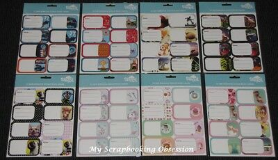 SPENCIL 'SELF ADHESIVE SCHOOL BOOK LABELS' (Choose from 10 Design)New 2019 Stock