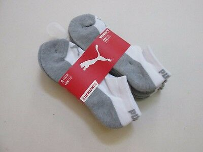 Puma Women's Low Cut Cushioned Athletic Socks Size Med 6-Pairs New
