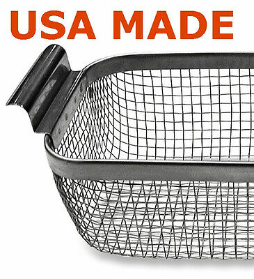 CP14-EW Ultrasonic Wire Mesh Cleaning Baskets 9 x 5 x 3.125 stainless steel