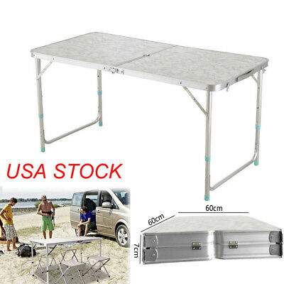 4' Folding Table Portable Plastic Indoor Outdoor Picnic Party Dining Camp BBQ
