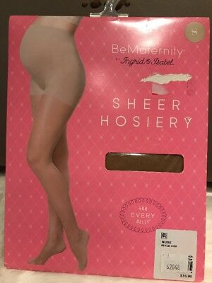 Be Maternity Ingrid & Isabel Sheer Hosiery Pantyhose Nude Sz Small New