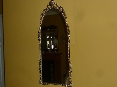 Antique Vintage Victorian Style Italian ? Gold Mirror Pewter? Gilt Rococo Wall